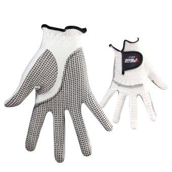 Anti-skid pure Sheepskin Golf Gloves for right hand (White+24yards) - 5