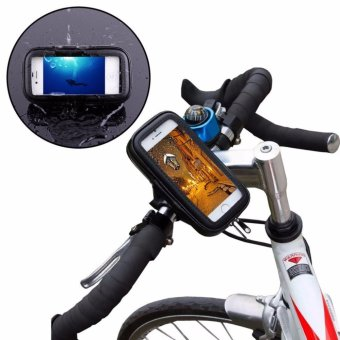 Harga Waterproof Rotating Bicycle Bike Mount Handle Bar Holder Case for iPhone 6 Plus Samsung Galaxy S3 S4 S5 S6 Edge LG G2 Huwei P8 Nubia Z9 etc. - intl