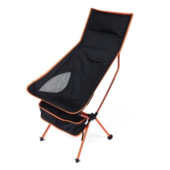 Harga Detachable Aluminium Alloy 7050 Extended Chair for Outdoor Activities (ORANGE)