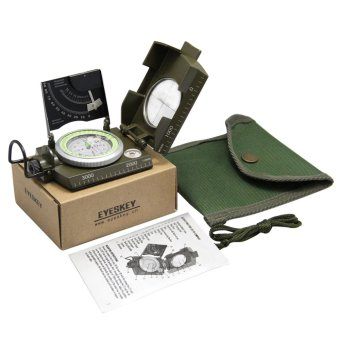 Harga GOOD Professional Military Army Sighting Luminous Compass with Inclinometer(Export)