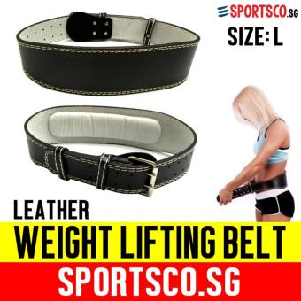 Harga SPORTSCO Premium Leather Weight Lifting Belt - Large Size (SG)