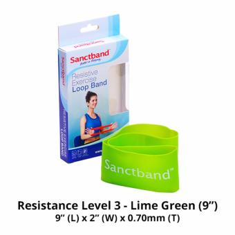 Harga Sanctband 9-inch Loop Band (Resistance Level 3 - Lime Green)
