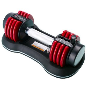 Harga Fitness Tech Adjustable Dumbbells 12.5Ib [5.675kg each] (Pair) Free glove