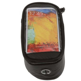 Harga MagiDeal Mountain Bike Bicycle 5.5inch Touch Screen Phone Bag Tube Frame Pouch Black - intl