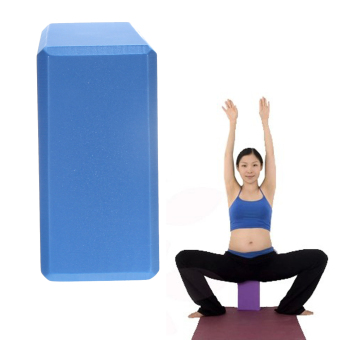 Harga High Density Yoga Block EVA Yoga Block Yoga Aids Blue