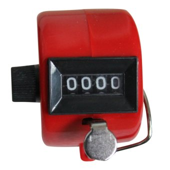 Harga Hand Held Tally Digit Mechanical Clicker Counter Red