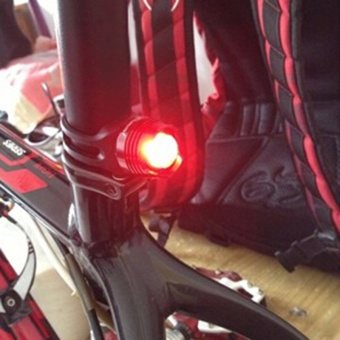 Bike Bicycle Helmet LED Three Modes Rear Light Safety Tail Red - 4