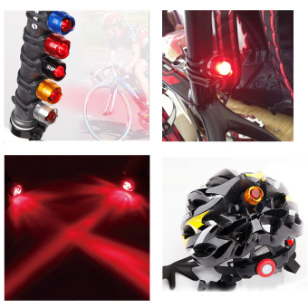 Bike Bicycle Helmet LED Three Modes Rear Light Safety Tail Red - 5