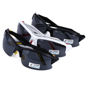 XQ - 129 Professional Polarized Cycling Glasses Sports Sunglasses?€€black and white--TC (EXPORT) - 2