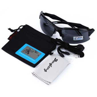 XQ - 129 Professional Polarized Cycling Glasses Sports Sunglasses?€€black and white--TC (EXPORT) - 4