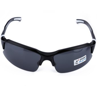 XQ - 129 Professional Polarized Cycling Glasses Sports Sunglasses?€€black and white--TC (EXPORT)