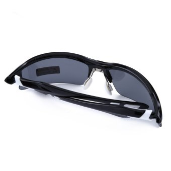 XQ - 129 Professional Polarized Cycling Glasses Sports Sunglasses?€€black and white--TC (EXPORT) - 5