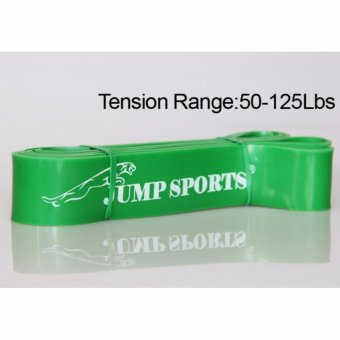 Harga Rubber Resistance Bands 50 to 125 Pounds For Body Training (Green) - intl
