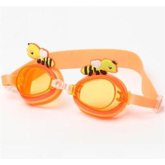 Harga Kids Swimming Goggle - Bee Orange
