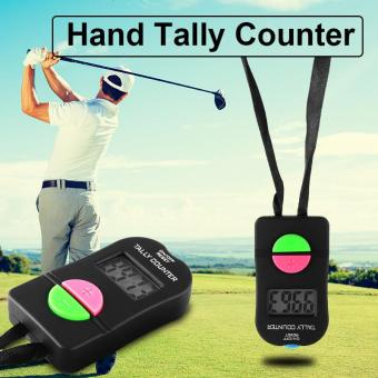 Harga 2pcs Handheld Tally Counter Electronic Counts Up/Down Press Button Sports BI604 - intl