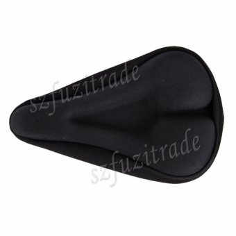 Black Comfortable MTB Bike Bicycle Seat Saddle Soft Cushion Cover Gel Pad - intl