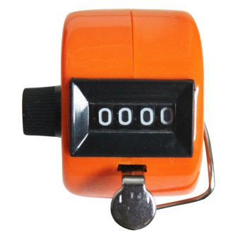 Harga Hand Held Tally Digit Mechanical Clicker Counter Orange
