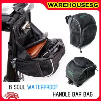 Harga B-Soul Scooter Handlebar Pouch Bag (Black)