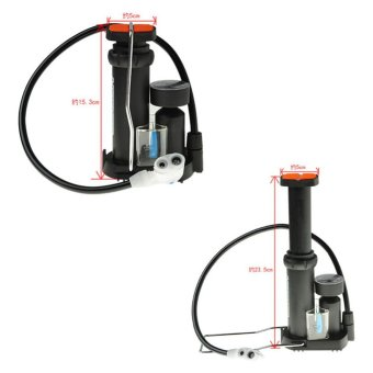 Car Cycling Tire Tyre Inflate Portable Bicycle Pump Foot Pedal Floor Pump Bike Air Inflator with Gauge - intl