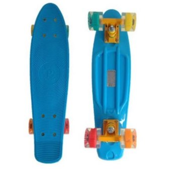 Penny Style Board Skateboard 22 inch (Blue with Coloured Wheels)