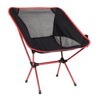 Portable Chair Folding Seat Stool Fishing Camping Hiking GardeningPouch - intl - 2