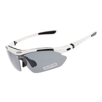 RockBros Polarized Cycling Sports Sunglasses (White) - Intl