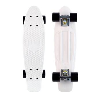 (White with Black) Penny Style Board Skateboard 22 inch Scooter / Electric Scooter / Kick Scooter / Skate Scooter / Kids / Children / Adult