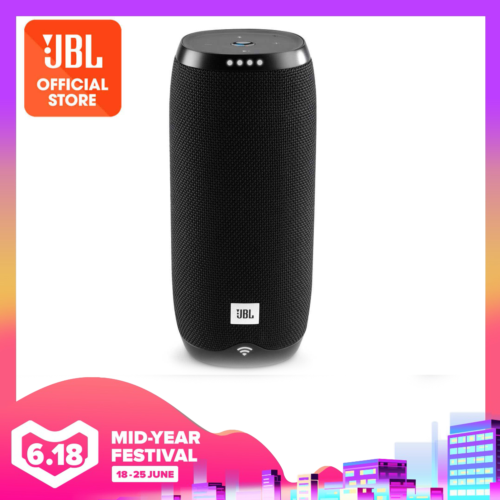 JBL LINK 20 Google Assistant Voice Activated Bluetooth Portable Speaker (Black) | Why Not Deals