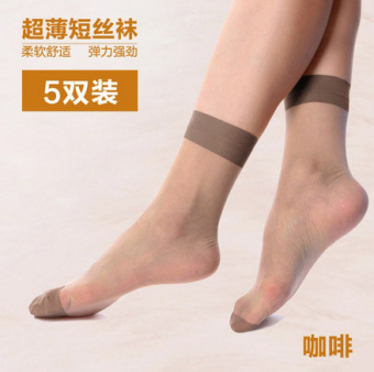 d0756656935 10 double langsha ms icy ultra thin transparent crystal silk short stockings  anti hook wire female