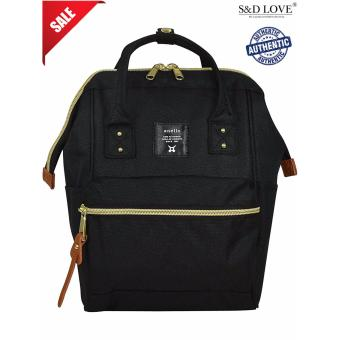 100% authentic Anello Cute Kids backpack for girls/boys children(Color: BLACK)