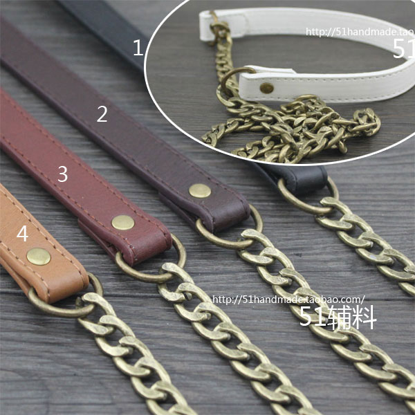 18mm/11mm Japan and South Korea popular diagonal wide faux leather (No. 3 coffee color 1.2 m long)