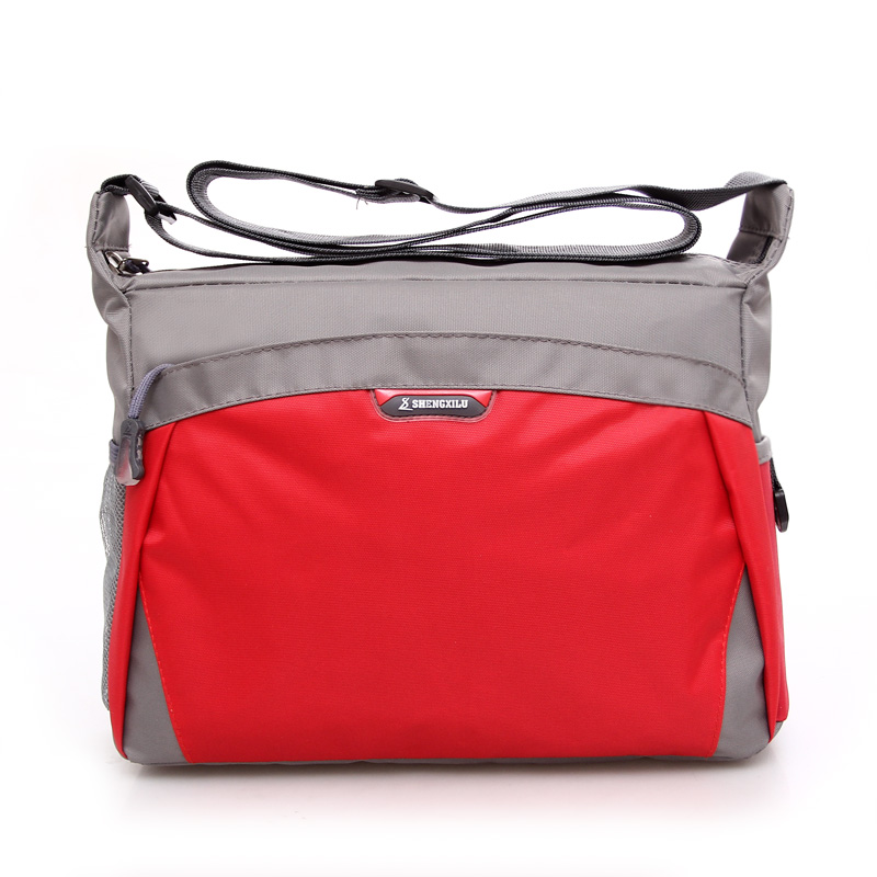 2017 korean version of the new men and women shoulder bag diagonal package influx of casual oblique shoulder bag male student school bag sports bag (Red)