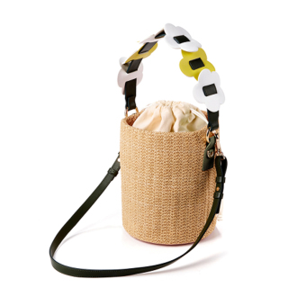 2017 New style straw bucket bag summer Seaside beach woven Single Room diagonal package sweet with a portable female bag