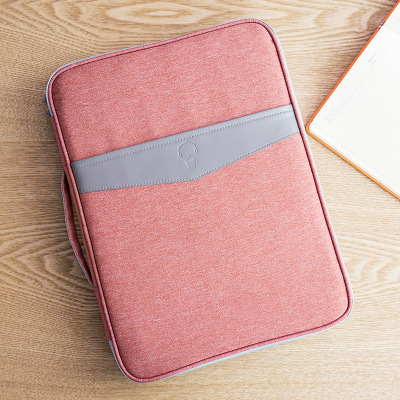 A4 large capacity home with multi-functional passport organizing folders storgage bag (Lotus Root Starch fight gray)