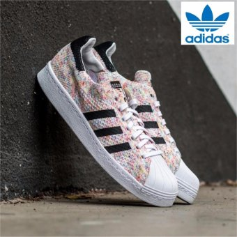 Harga Adidas Originals Superstar 80s Primeknit Shoes S75845Multicolor/White - intl