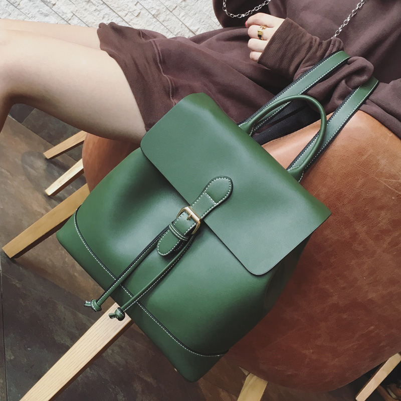 AI Amoy Korean-style New style retro shoulder bag (LS6018 _ Green large)