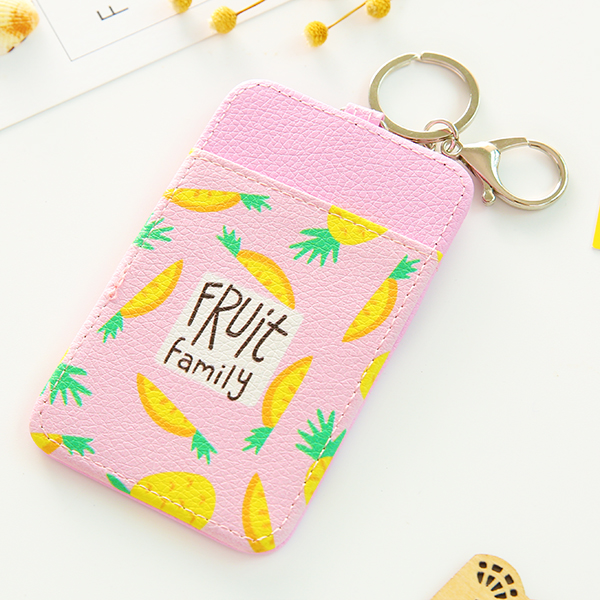 Also not dinner card bus subway key cap traffic card holder (Foundation pineapple) (Foundation pineapple)