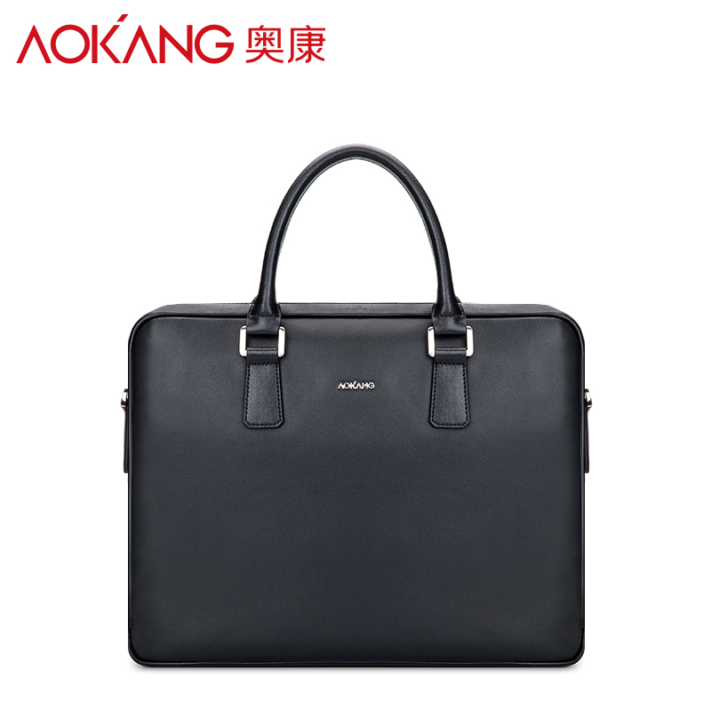 Aokang casual leather men briefcase men's bag