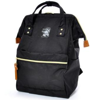Authentic anello Backpack Japan Hot-selling Rucksack (Large size, BLACK color)