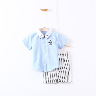 Baby cotton boy's New style summer short sleeved shirt