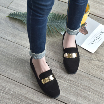 British style Spring and Autumn New style autumn shoes women's shoes (Black)