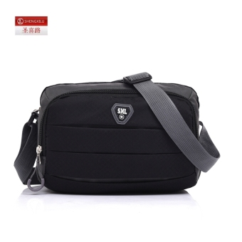 Casual nylon New style shoulder canvas bag small bag (Black) (Black)