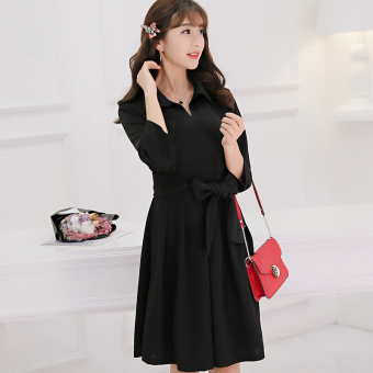 Color Diana New style Slim fit Slimming effect sleeve knit dress