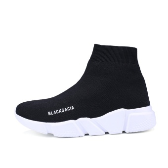 Harga Couple breathable Tang Yan same paragraph casual black socks shoes(36 + Black) (36 + Black)