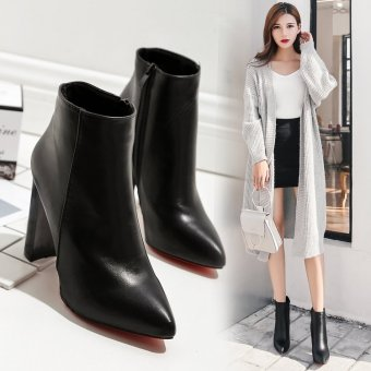 European and American autumn and winter New style pointed high-heeled shoes