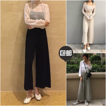 Female spring New style pantyhose pants trousers (Gray)