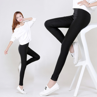 Female Summer ultra-stretch candy color pants leggings (White) (White) - 2