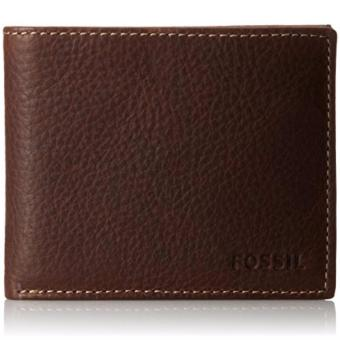 Fossil Men's Leather Wallet Lincoln Bifold Brown