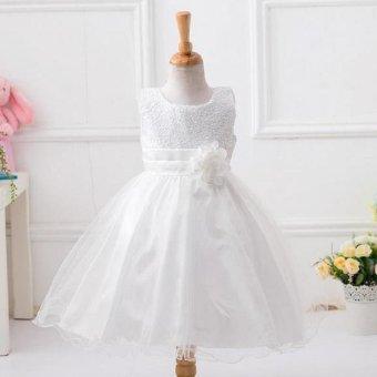 Girls dress sequined dress veil princess dress performance dress - intl - 2
