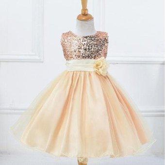 Girls dress sequined dress veil princess dress performance dress - intl - 3
